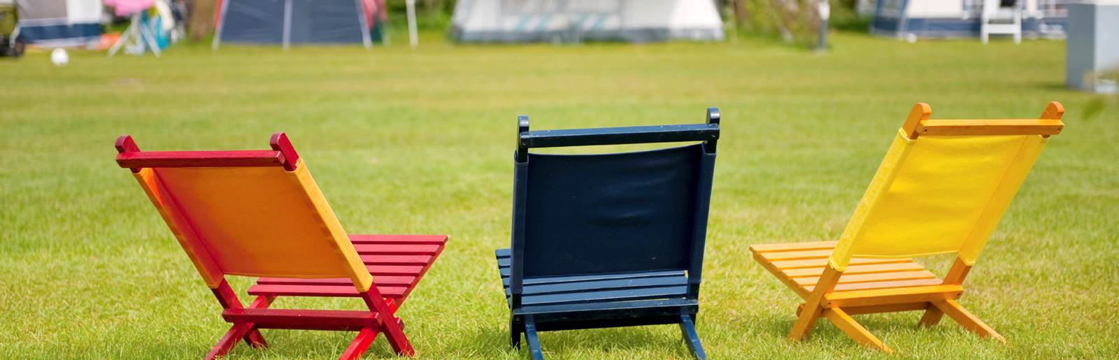 Deck Chairs in field